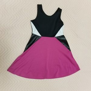 BONGO Girls skater dress colorblock used
